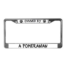 Owned by a Pomeranian License Plate Frame