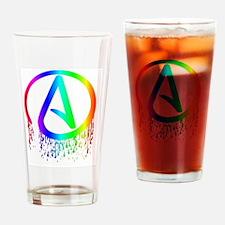 Unique Atheist symbol Drinking Glass