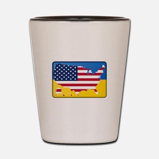 Ukrainian-American Shot Glass