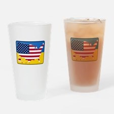 Ukrainian-American Drinking Glass