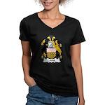 Colshil Family Crest Women's V-Neck Dark T-Shirt