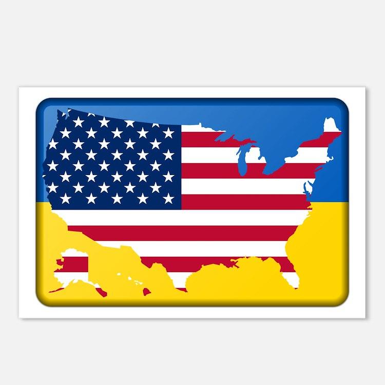 Ukrainian-American Postcards (Package of 8)