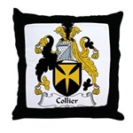 Collier Family Crest Throw Pillow