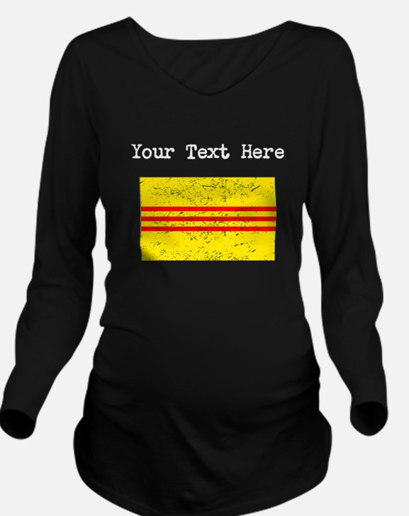 Old South Vietnam Flag (Distressed) Long Sleeve Ma