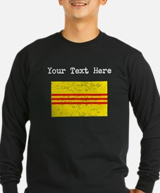 Old South Vietnam Flag (Distressed) Long Sleeve T-