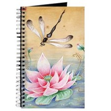 Lotus Dragonfly Zen Art Journal