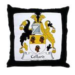 Collard Family Crest Throw Pillow