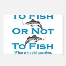 To Fish or Not Postcards (Package of 8)