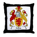 Coley Family Crest  Throw Pillow