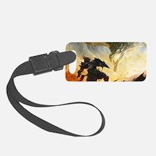 Warrior Fighting Dragon Luggage Tag