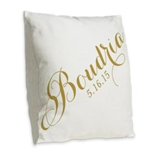 Funny Chair Burlap Throw Pillow