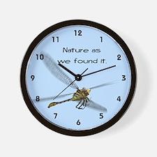 Nature Dragon Fly Wall Clock