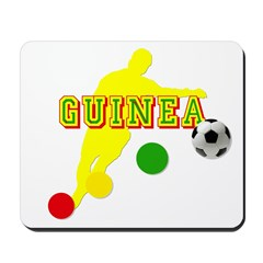 Guinea Football Player Mousepad
