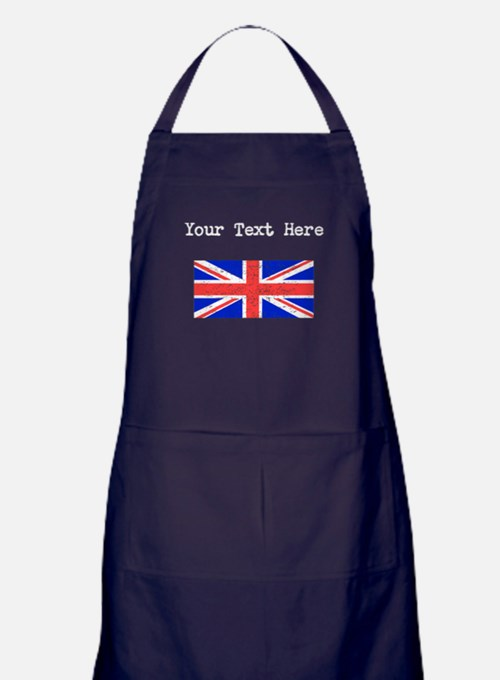 United Kingdom Flag (Distressed) Apron (dark)