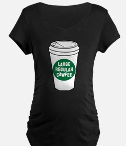 Lahge Regulah Cawfee Maternity T-Shirt