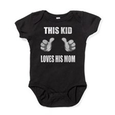 Cute Cafe pretzel Baby Bodysuit