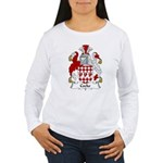 Cocke Family Crest  Women's Long Sleeve T-Shirt