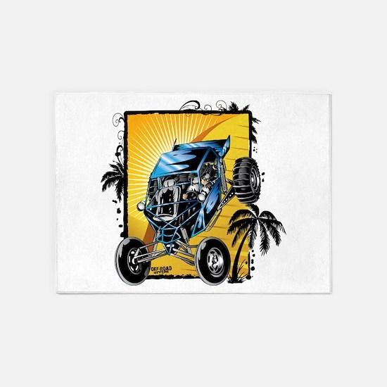 Blue Dune Buggy 5'x7'Area Rug