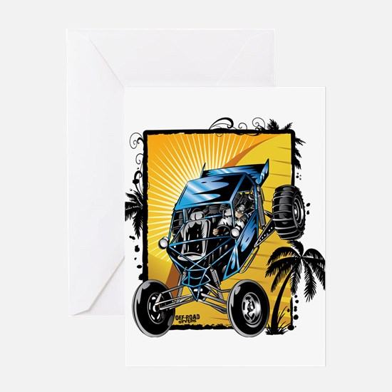 Blue Dune Buggy Greeting Cards