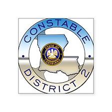"""Louisiana Constable Square Sticker 3"""" x 3"""""""