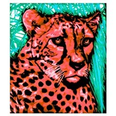 Painted Cheetah Canvas Art