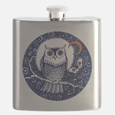 Blue Owl with Moon Flask