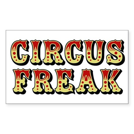 CIRCUS FREAK Rectangle Sticker