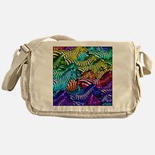Painted Zebras Messenger Bag