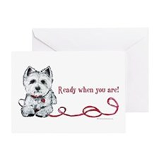 Westhighland White Terrier Re Greeting Card