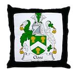 Close Family Crest Throw Pillow