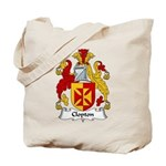 Clopton Family Crest Tote Bag