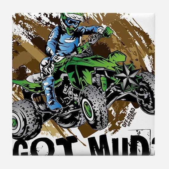 Got Mud ATV Quad Tile Coaster