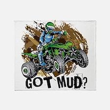 Got Mud ATV Quad Throw Blanket