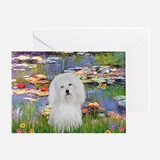 Lilies & Coton de Tulear Greeting Card