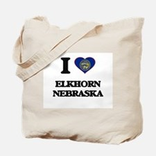 I love Elkhorn Nebraska Tote Bag