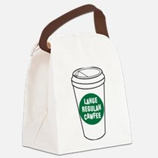 Lahge Regulah Cawfee Canvas Lunch Bag