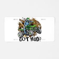 Got Mud ATV Quad Aluminum License Plate