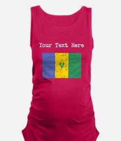 St Vincent Flag (Distressed) Maternity Tank Top