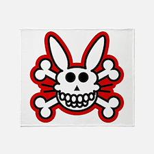 Skull Bunny Dead Rabbit Throw Blanket