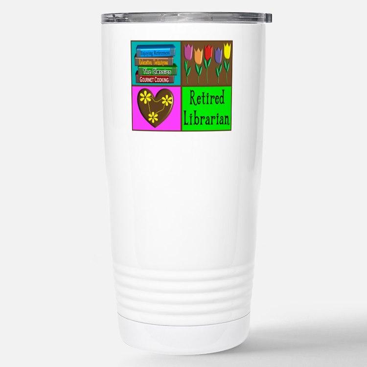Cute Librarian retirement Travel Mug