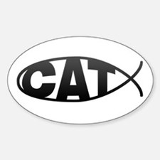 Cat Fish Oval Decal