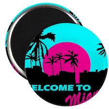 """Unique Miami 2.25"""" Magnet (10 pack)"""