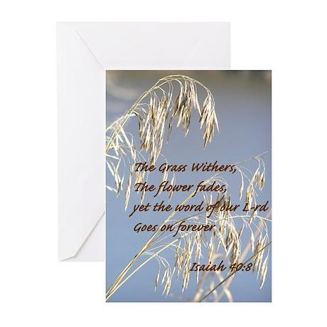 Isaiah 40:8 Sympathy Cards (Pk of 10)