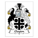 Clayton Family Crest Small Poster