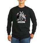 Clayton Family Crest Long Sleeve Dark T-Shirt