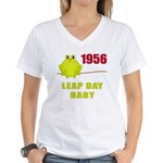 1956 Leap Year Baby Women's V-Neck T-Shirt
