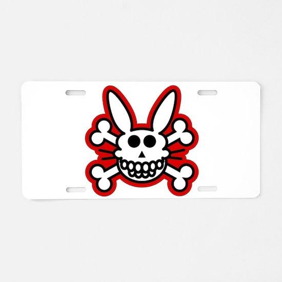 Skull Bunny Dead Rabbit Aluminum License Plate