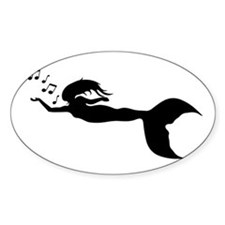 mermaid and music notes Decal