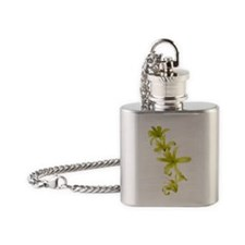 Yellow Lillies Flask Necklace