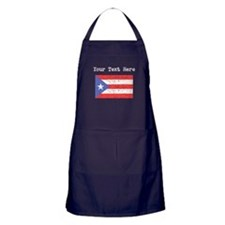 Puerto Rico Flag (Distressed) Apron (dark)